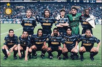 1998年联盟杯决赛国际米兰出场阵容照片
