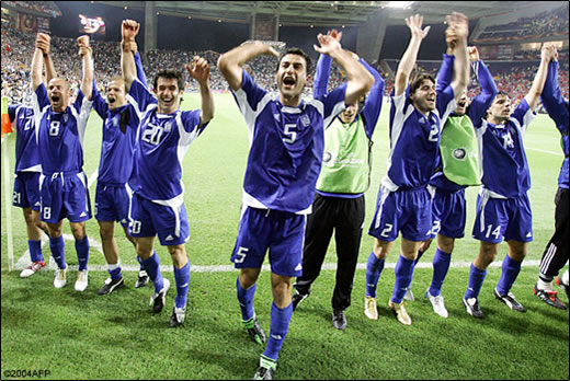 希腊人庆祝ing