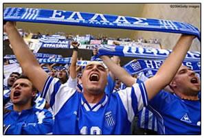 希腊球迷真幸福