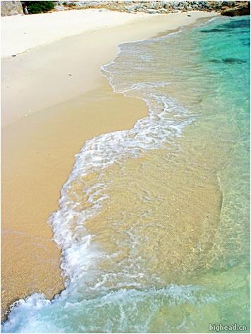 蜈支洲岛的海水照片