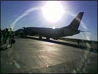 阳光下的阿勒泰机场