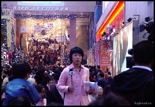 TVBS的女主持在海港城